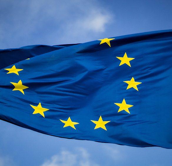 EU flag - Life science and EU.